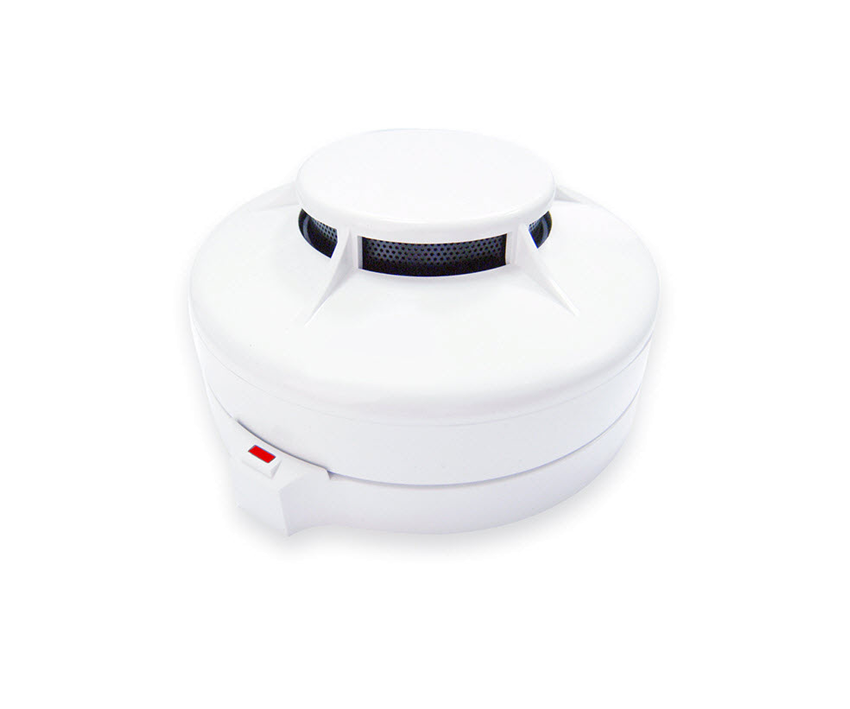White fire detecting alarm